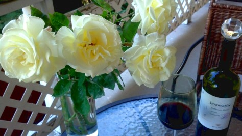 Roses on the balcony - Friday, 31 May 2013 - Reno, Nevada