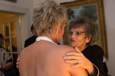 Bride and her mother, Carol and Gene Cizauskas. The Plumas House, Reno, Nevada. Saturday, 12 October 2013.